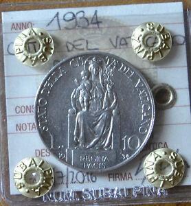 MONETA-CITTA-039-DEL-VATICANO-10-LIRE-PIO-XI-1934-sigillata-SPL-SUBALPINA