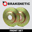 BRAKENETIC SPORT Cross DRILLED Brake Disc Rotors BNS44007.CD FRONT SET