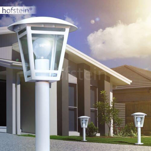 klassische Sockel Leuchten weiß Garten Laterne Wege Lampe Außen Steh Beleuchtung