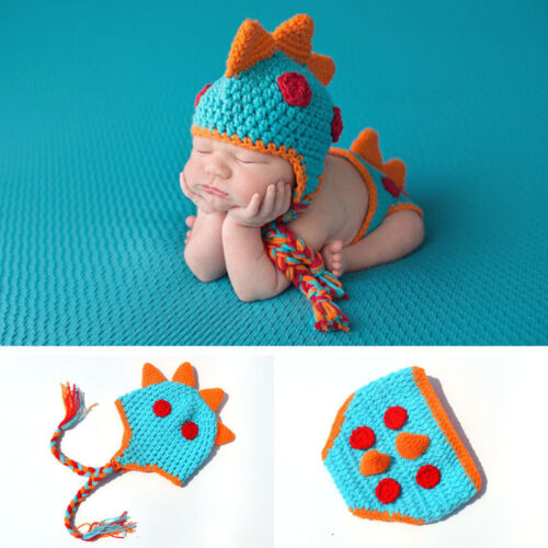 New baby Dinosaurs clothing modelling Knit Crochet Clothes  Photo Prop outfit