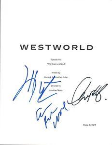 WESTWORLD-Cast-Signed-Episode-1x10-Script-Evan-Rachel-Wood-Wright-amp-Sarafyan-COA