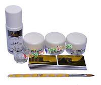Acrylic Nail Art Full Set Powder Liquid Pen Guide Sticker Dappen Dish Kit 75