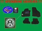 TAPPETINI tappeti Volkswagen TOURAN su misura con ricami e battitacco gomma