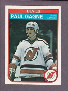 another chance 3cdd2 2fddb Details about 1982-83 O-Pee-Chee OPC Hockey Paul Gagne #139 New Jersey  Devils NM/MT