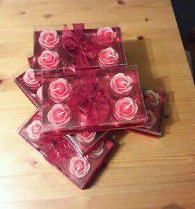 Möbel & Wohnen Herrlich ** 11 Karton ** Hochzeit Tisch Kerzen Rosen Teelichte Muttertag Hochzeitsantrag Schrumpffrei
