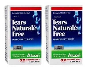 10 Boxes Alcon Tears Naturale Free Lubricant Eye Drops 320 Vials 0 8ml Each Els 5413895053528 Ebay