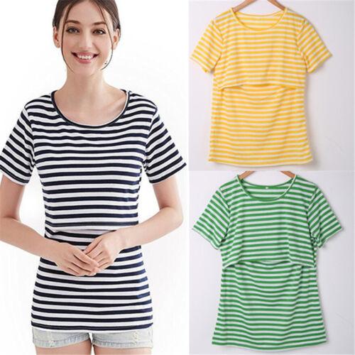 US Maternity T-shirt Breastfeeding Clothes Nursing Tops For Pregnant Women Shirt