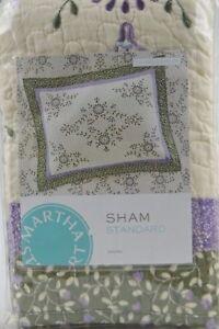 Martha-Stewart-Collection-VALENCIA-EYELET-Standard-Quilted-Pillow-Sham-Floral