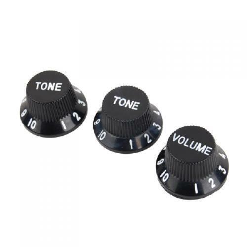 3er Set Schwarz Geschwindigkeit Volumen Tone-Regler W White Detail Für