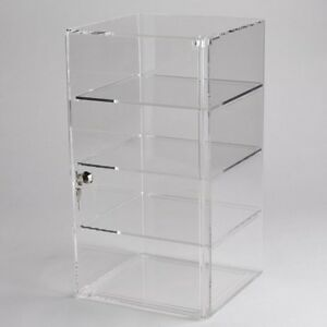 New Vertical Acrylic Counter Top Locking Jewelry Display