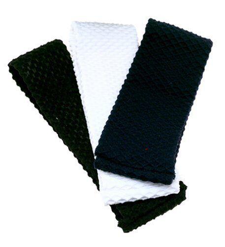 """Vidal Sasson /"""" 6 Headwraps /"""" 2 Black-2 Grey-2 White"""