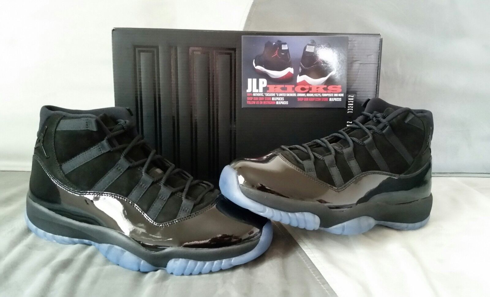 Air Jordan 11 Cap and Gown Retro Triple Black Prom Night 378037 005 All Sizes