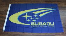 New Blue Subaru World Rally Team Racing Flag WRT Garage Sign Banner Auto NASCAR