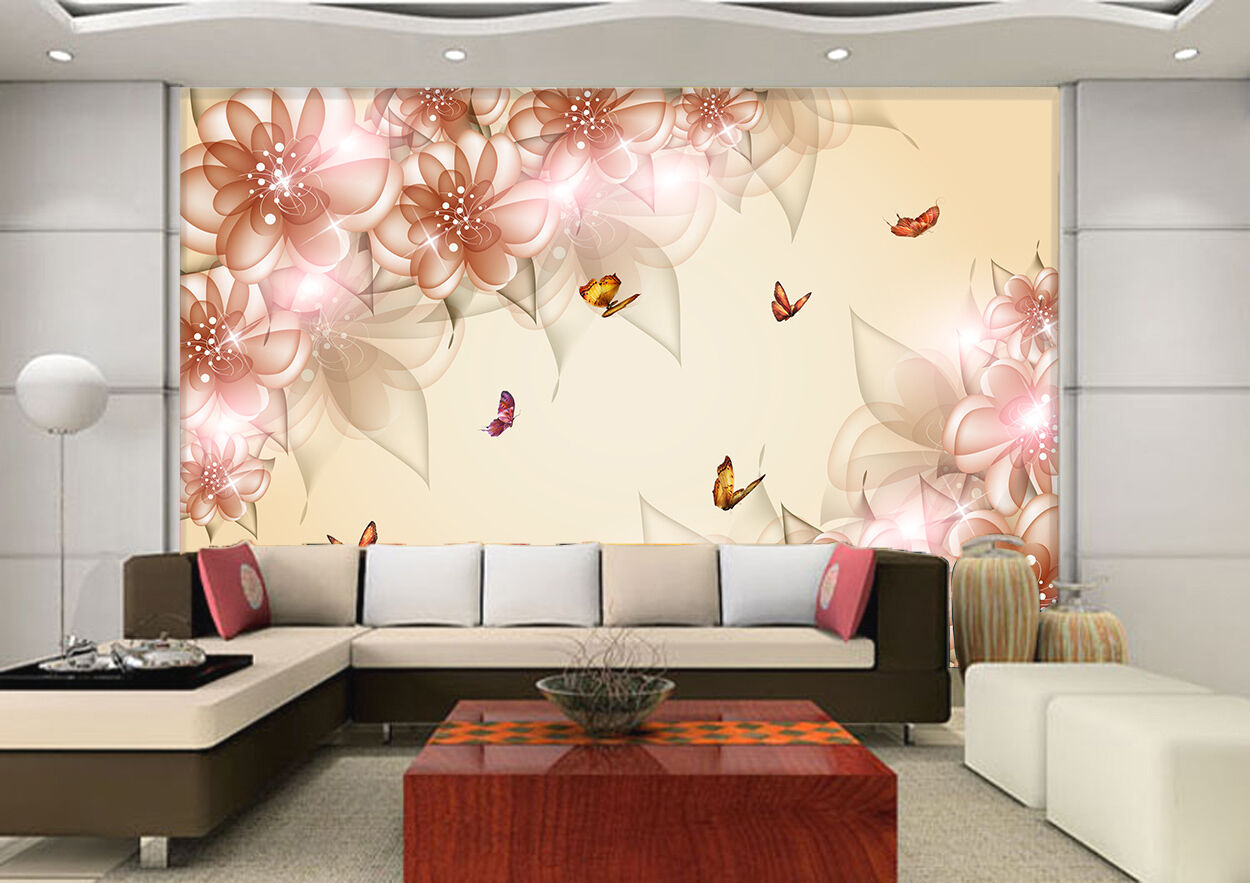 3D Dazzling flowers 667 Wall Paper Print Wall Decal Deco Indoor Wall Murals