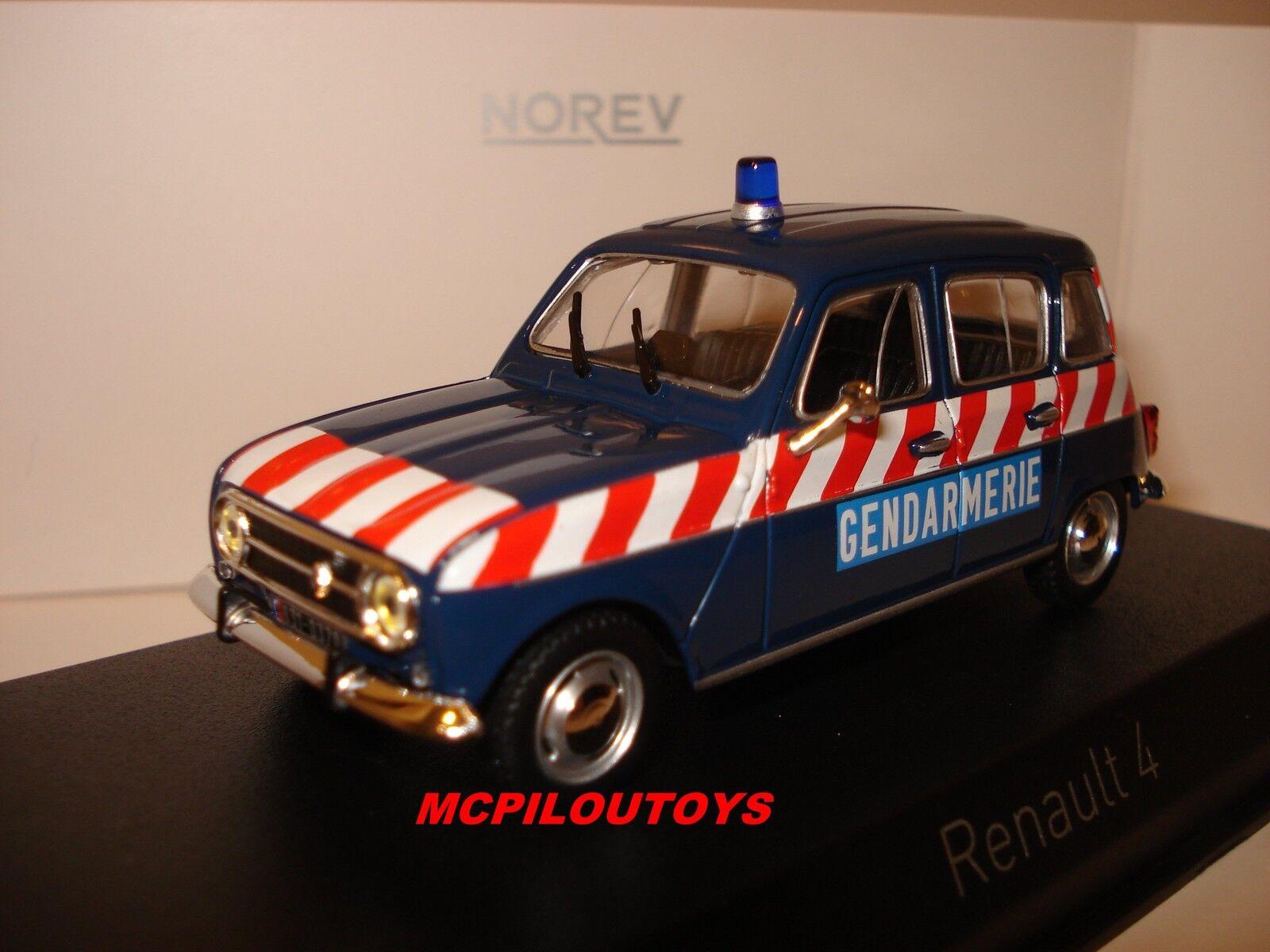 NOREV RENAULT 4 POLICE PELOTON D'AUTgoldUTE 1968 au 1 43°
