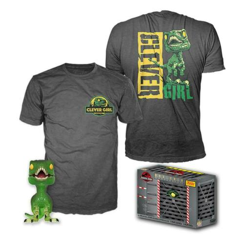 /& Tee Box Clever Raptor Medium Size POP Vinyl /& T-Shirt Set Jurassic Park POP