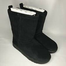 06251821bf4 UGG Classic Short Mickey Mouse Crystals Red Suede Fur BOOTS Size 9 ...