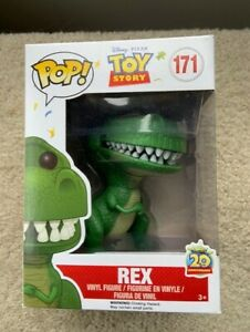 Rare-VAULTED-Genuine-REX-Toy-Story-Funko-Pop-Vinyl-New-in-Mint-Box-Protector