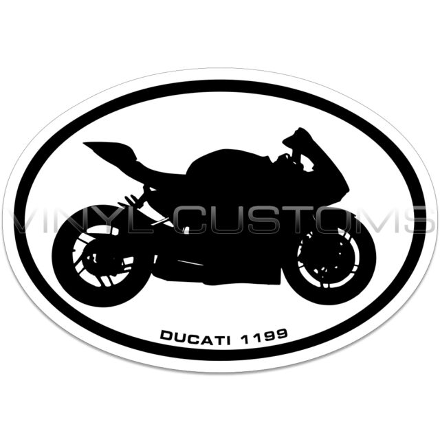 Ducati 1199 Panigale Euro Oval Vinyl Decal Sticker Ebay