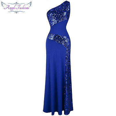 Angel-fashions Women's Formal Dresses Sequin Mermaid Wedding Party Gown 68