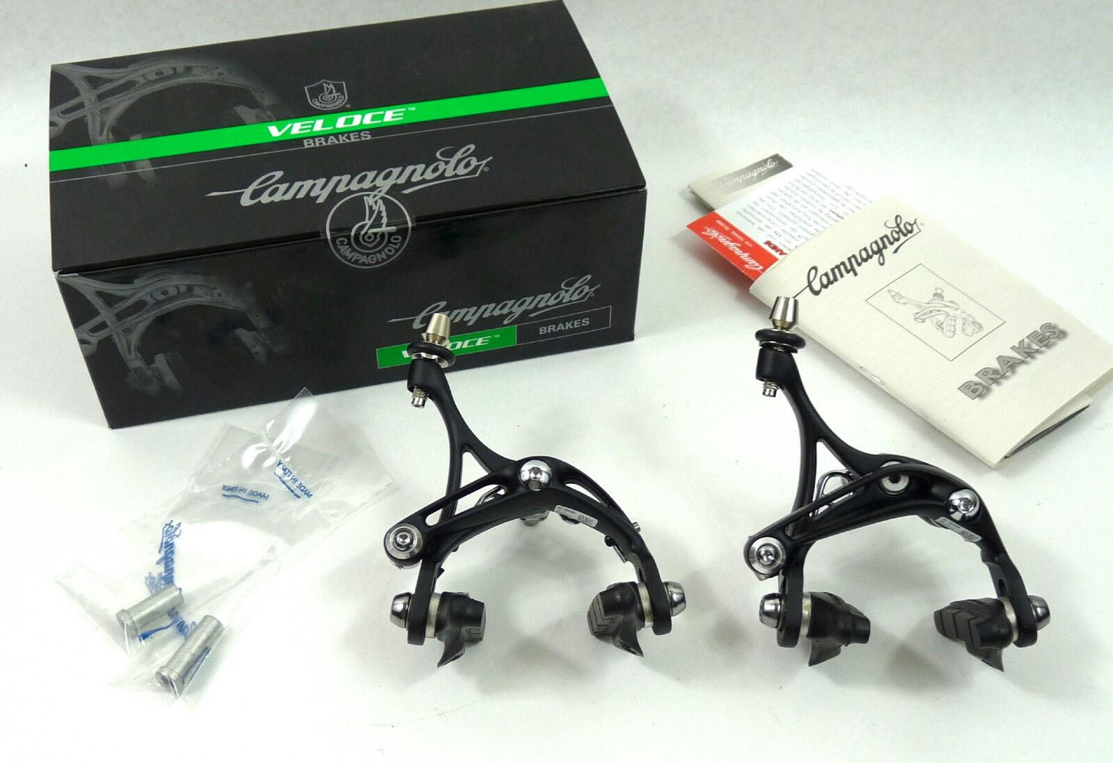 Pinza de freno de Campagnolo Veloce Set 10 velocidad Skeleton Negro Vintage Bike Nuevo Viejo Stock
