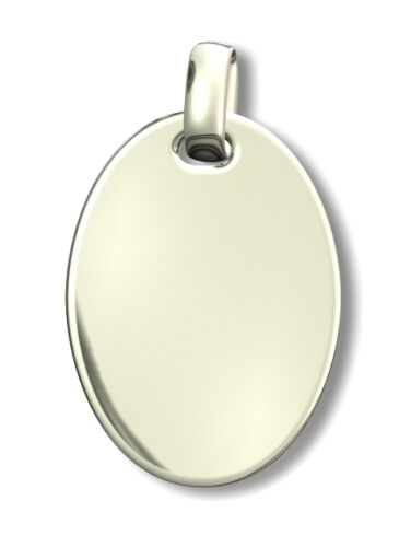Inkl Anhänger Gravurplatte Silber 925 Gravur Oval Breite 16 mm Höhe 23 mm