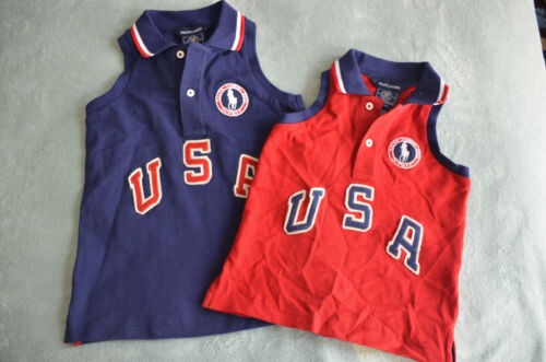 NWT $55 Ralph Lauren USA Olympic Team Red or Blue Polo Top Shirt 3T, 5