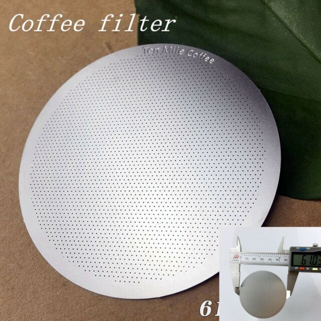 /& Mesh Coffee Steel Solid For AeroPress Reusable Filter Part Paper Stainless