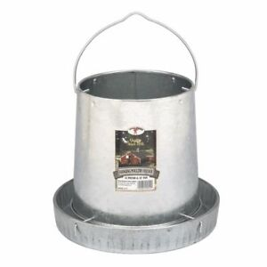 Details about Miller Galvanized Steel Hanging Chicken Feeder Holds 12lb  Feed w/ 12