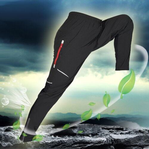Cycling Pants Bike Bicycle Men/'s Long Pants Reflective Riding Trousers Black