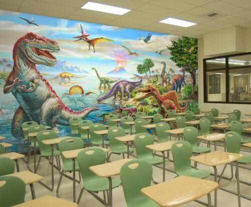 3D Volcano Dinosaur A19 Wallpaper Wall Mural Self-adhesive Adrian Chesterman Zoe