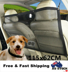 Dog-Guard-Car-Headrest-Travel-Mesh-Barrier-Pet-Safety-115x62cm-AU-Stock