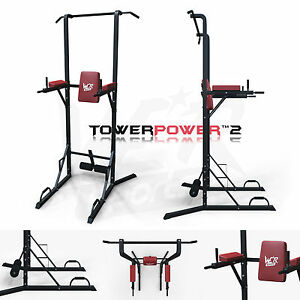 Chin-Up-Pull-Up-Sit-Ups-Power-Tower-Vertical-Knee-Raise-Dip-Station-Workout-Bar