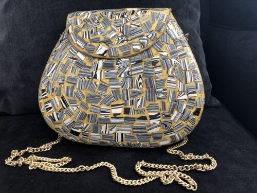 a noche Reino metal indias Unido Vendedor Se oras hecho bolso de mano del embrague bolso nupcial q81xvwf
