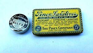 Two Different Vintage  Medicine Tins - Cloverine & Pinex