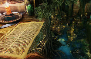 542b7ad5b5228 Framed Print - Tree Growing out a Story Book Page (Picture Poster ...