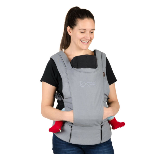 Mountain Buggy Juno Baby Carrier Charcoal New Includes Infant Insert Free Ship!
