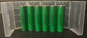 "Brand New /""6/"" LG 18650-MJ1 10A 3500mAh High Drain Battery Button Top"