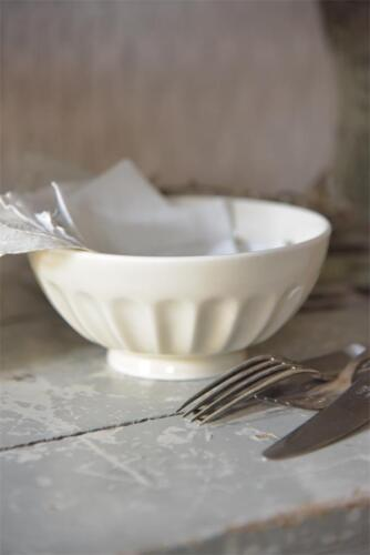 Jeanne d´arc living Bowl Schüssel Rund Creme Porzellan Shabby Vintage Küche 15cm