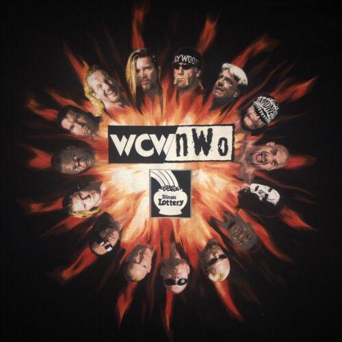 Vintage 90s WCW / NWO Wrestling T Shirt Illinois L