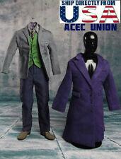 1/6 Joker Heath Ledger Costume Suit Set 2.0 For DX01 DX11 Hot Toys U.S.A. SELLER