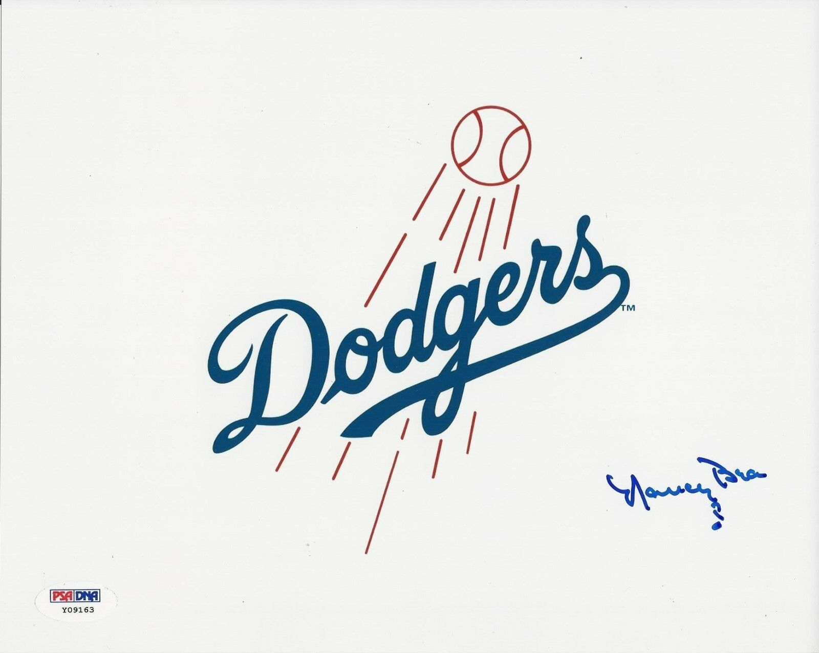 Nancy Bea Hefley Dodgers Signed 8x10 Photo PSA/DNA # Y09163