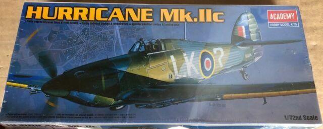 Academy Hawker Hurricane MK IIC 1/72 Scale Plastic Model Kit ...