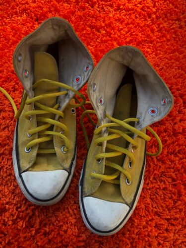 Vintage Converse All Star Chuck Taylor Shoes Yello