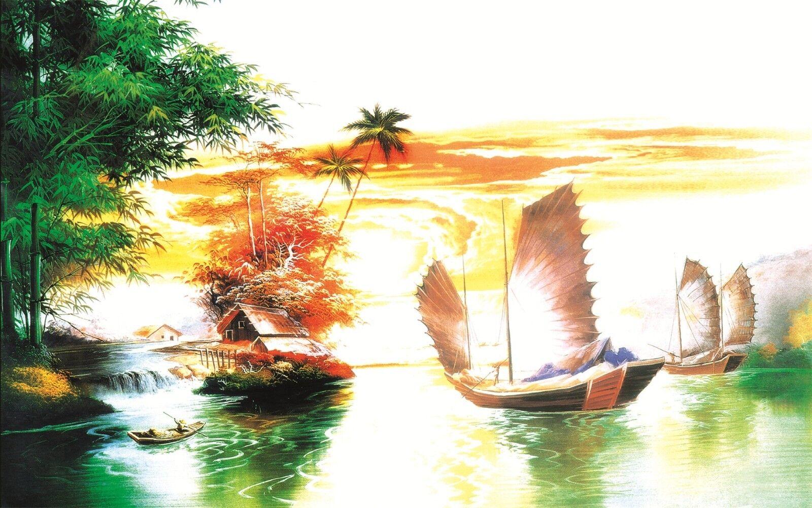 3D Ozean Ozean Ozean Segeln Dämmerung 8833 Tapete Wandgemälde Tapeten Bild Familie DE Jenny   Exquisite Verarbeitung    Um Zuerst Unter ähnlichen Produkten Rang     44fd88