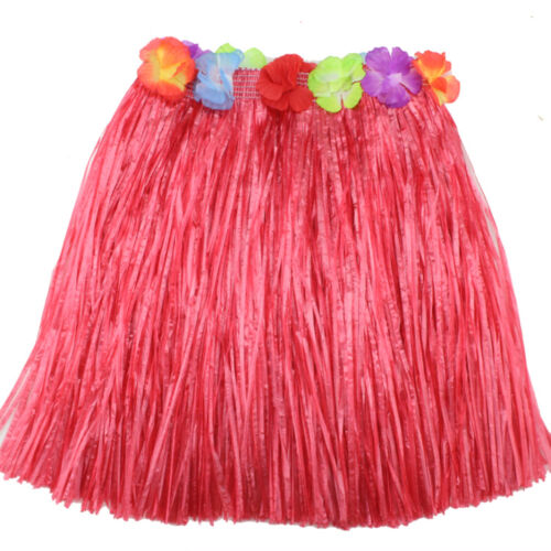 Ladies Women Hawaii Fancy Dress Grass Skirt Hula Hawaiian Full Charming UWK