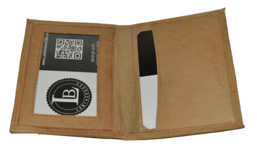 CREDIT CARD ID HOLDER SMALL SLIM TAN NEW GREAT GIFT IDEA  FREE SHIPPING