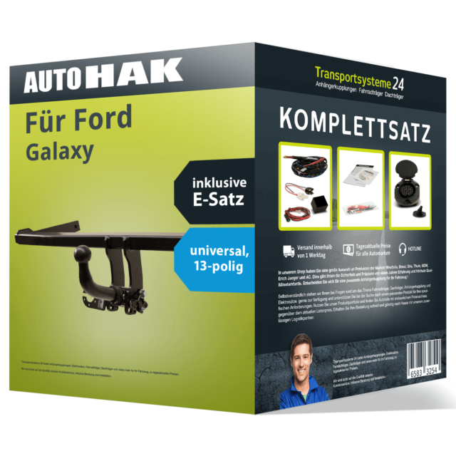 Anhängerkupplung abnehmbar Ford Galaxy 2000//2006 13-pol E-Satz