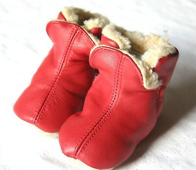 Süße Stiefel Babyschuhe Babystiefel Schuhe warm gefüttert Playshoes rot 16/17