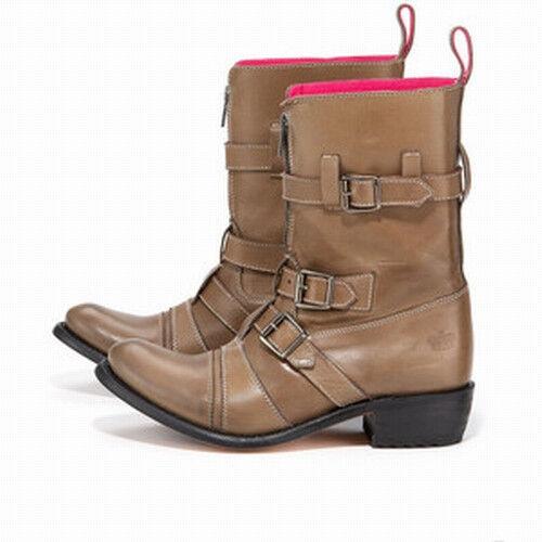 Juicy Couture NIB 475 Walker   Leder   Stiefel  6.5   Mid Calf
